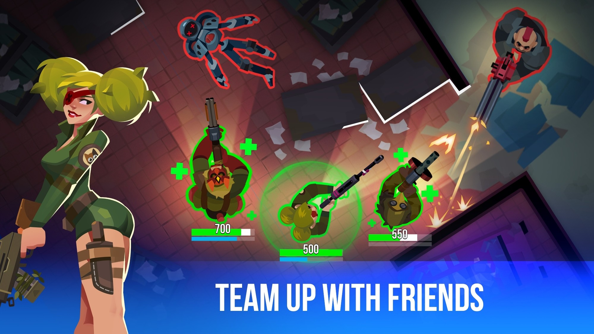 Team up with friends