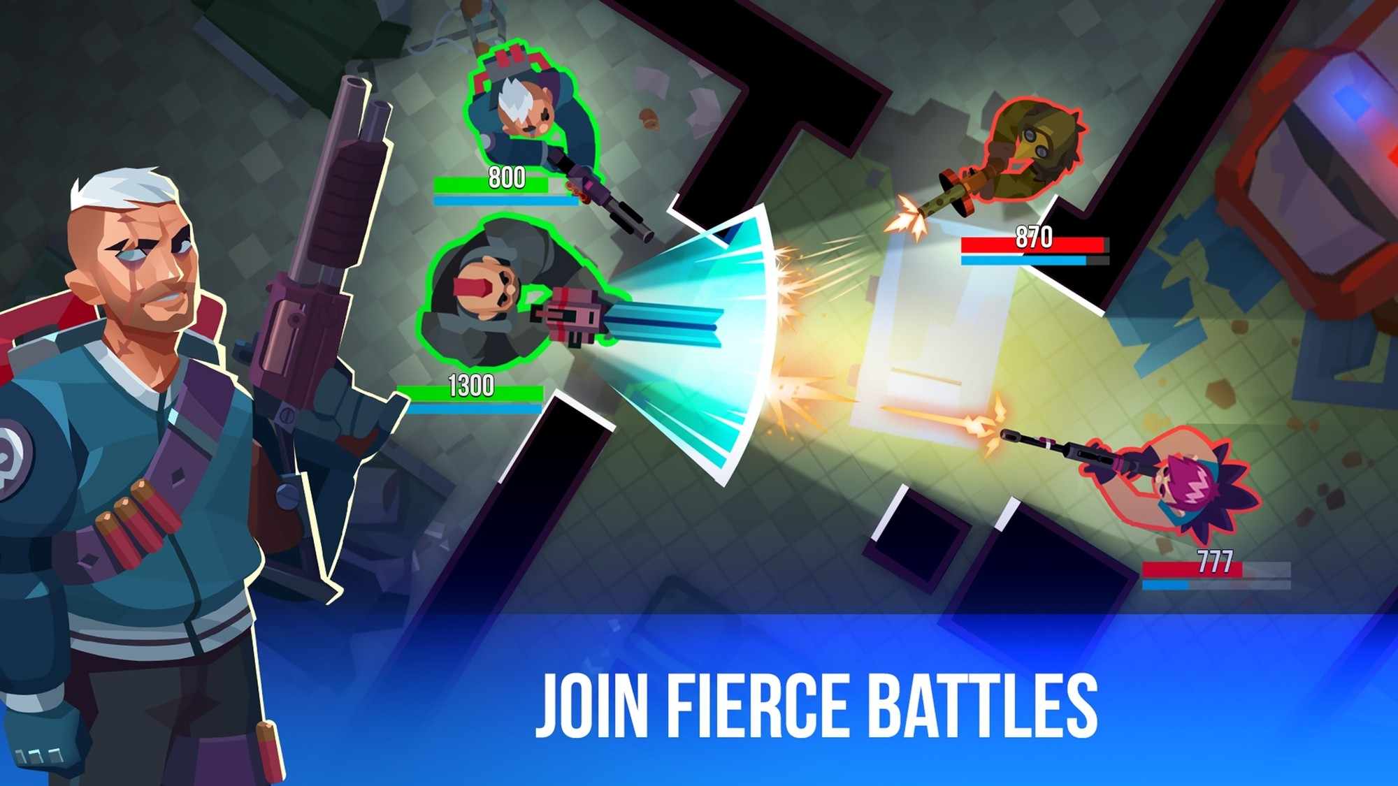 Join fierce battles